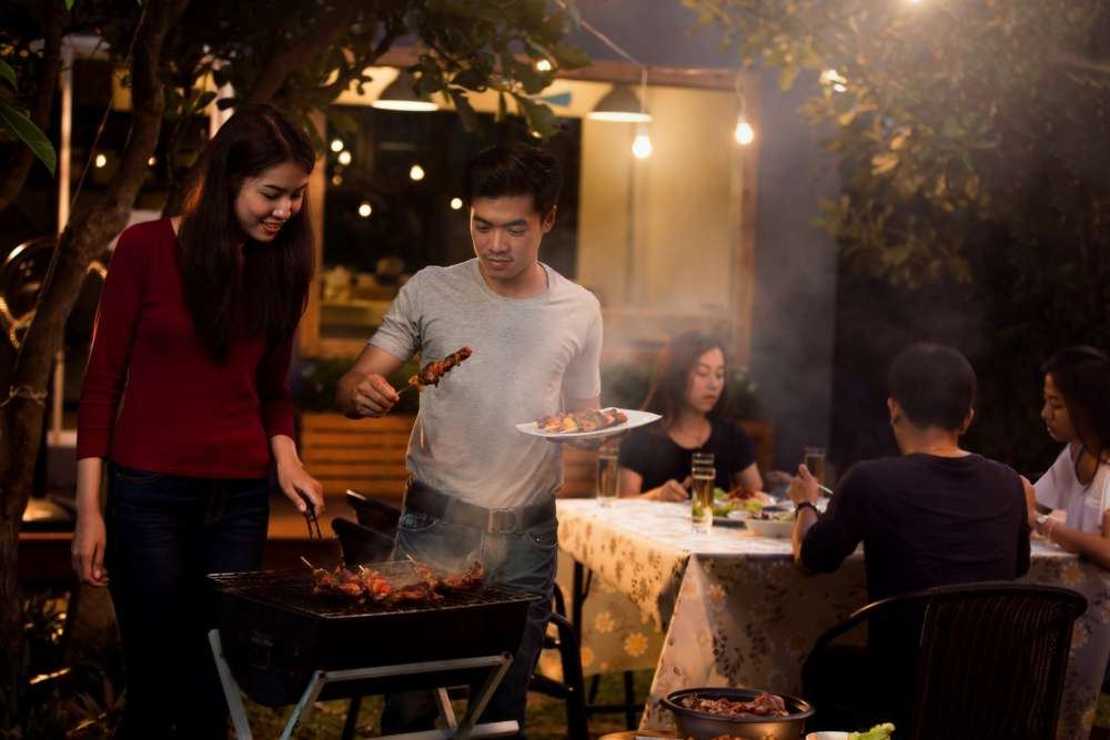 An evening barbecue that serves as an example of hospitality.